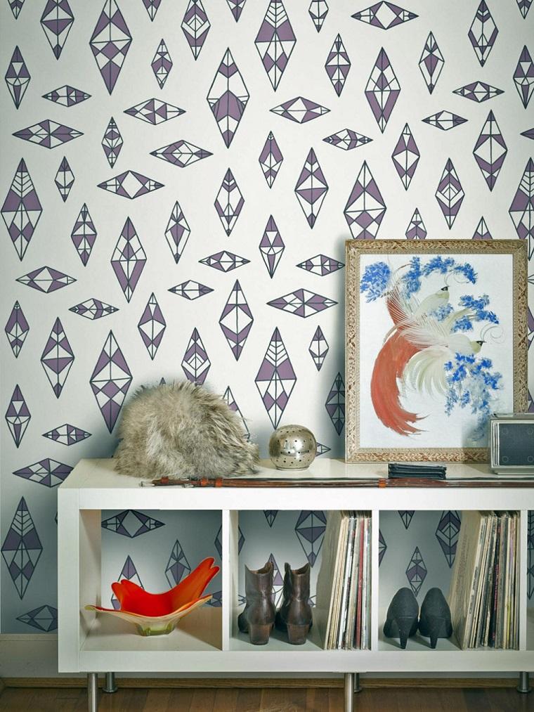 decoración vintage papel pared precioso ideas