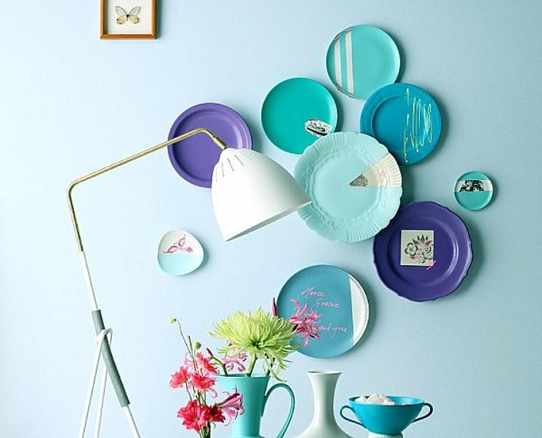 decoración vintage platos pared ideas