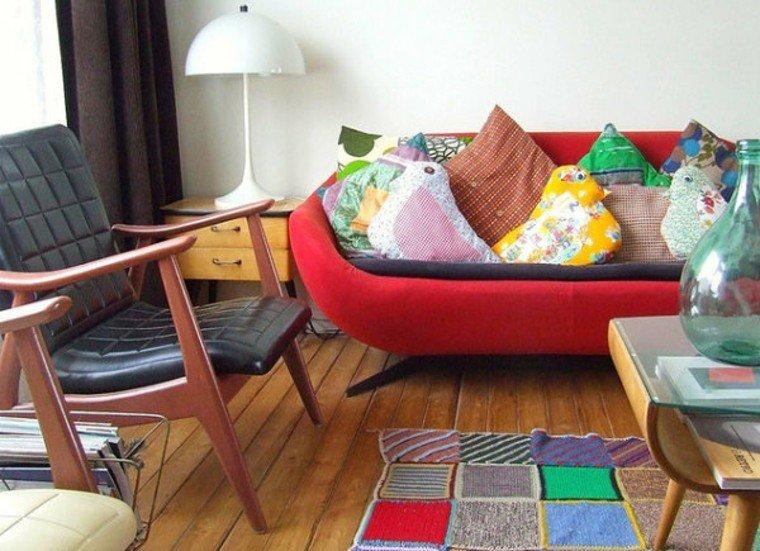 decoración vintage salon colorido alegre ideas