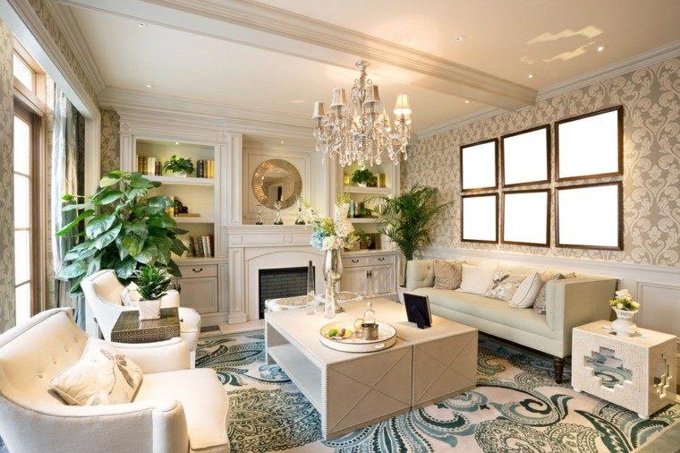 Decoraciones de salones formales y casuales for Plantas salon decoracion