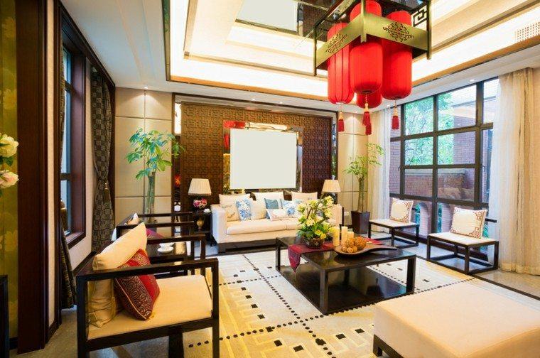 decoraciones salones lamapara roja preciosa ideas
