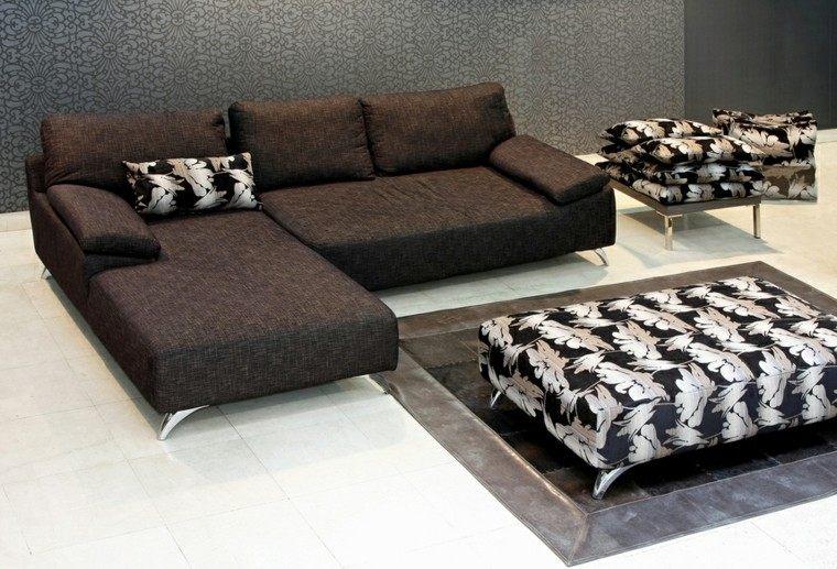 decoraciones salones muebles negros ideas