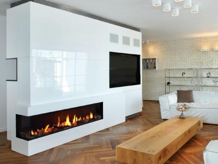 ideas chimeneas salones estilos moderno