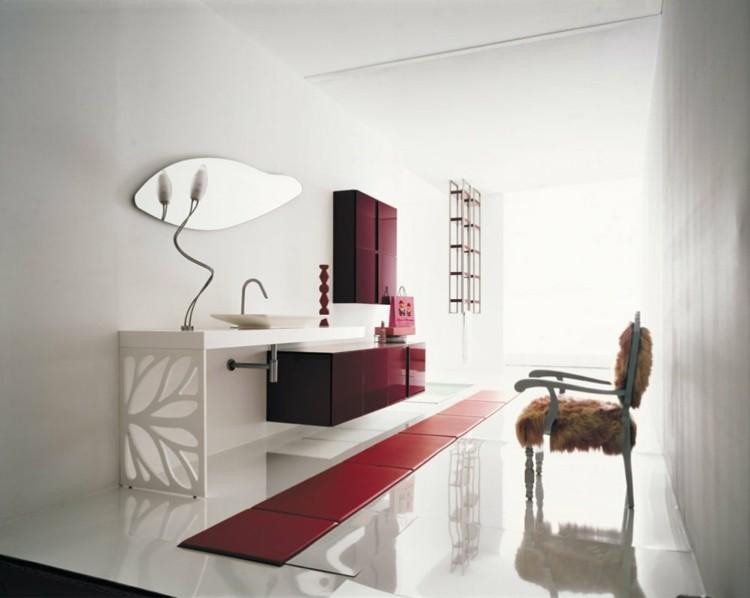 decorar baños mesa cueros brillo sillas