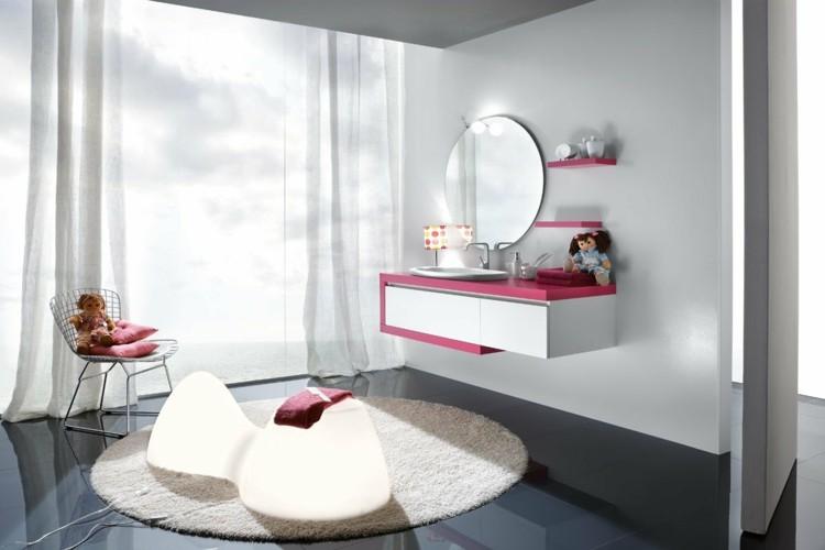 decorar baños mesa espejos infantil alfombra