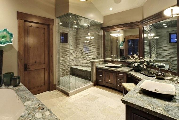 decorar baños estilo originalidad diseno rustico ideas