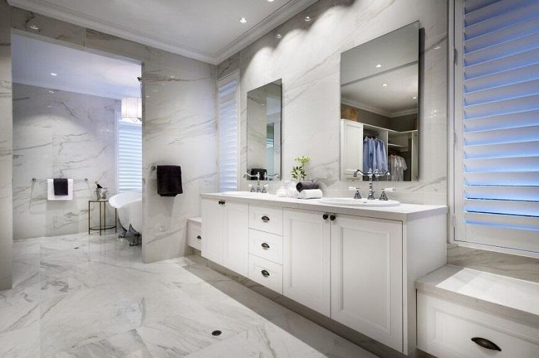 decorar baños estilo originalidad dos epejos ideas