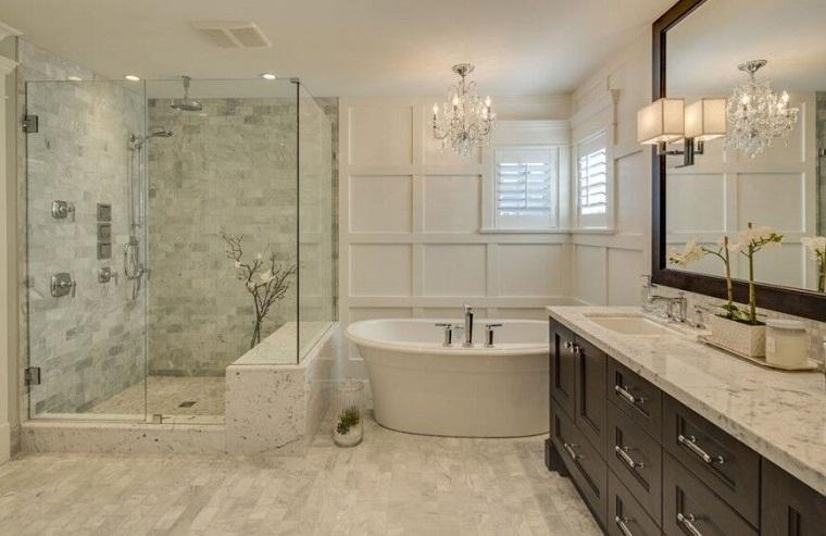 decorar baños estilo originalidad ducha esquina ideas