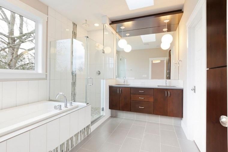 decorar baños estilo originalidad espejo pared ideas