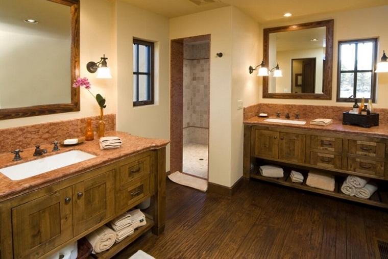 decorar banos estilo originalidad madera deas