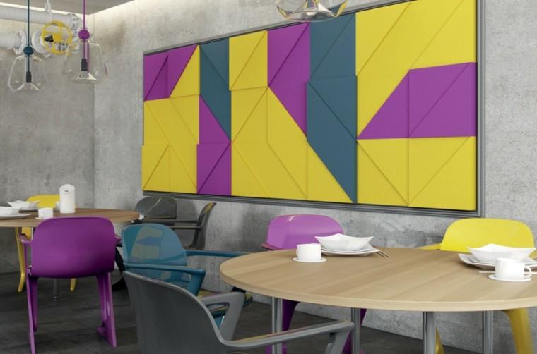 decorar pared cuadro colorido precioso ideas