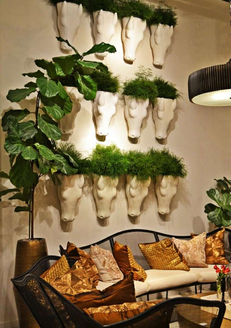 decorar paredes plantas macetas pared ideas