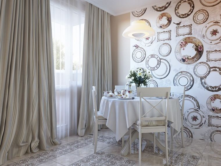 decorar paredes platos papel pared ideas