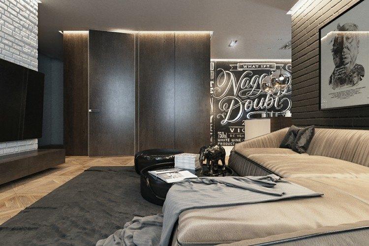 decorar salon estilos casa hombre grises