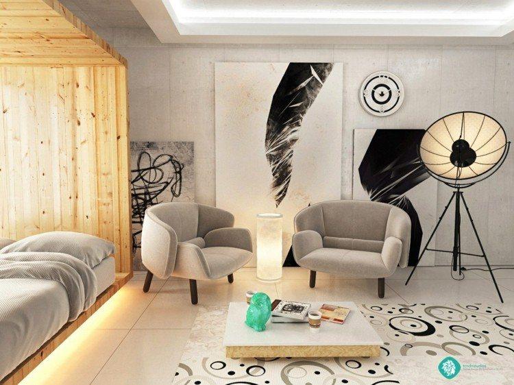 decorar salon estilos casa proyector madera