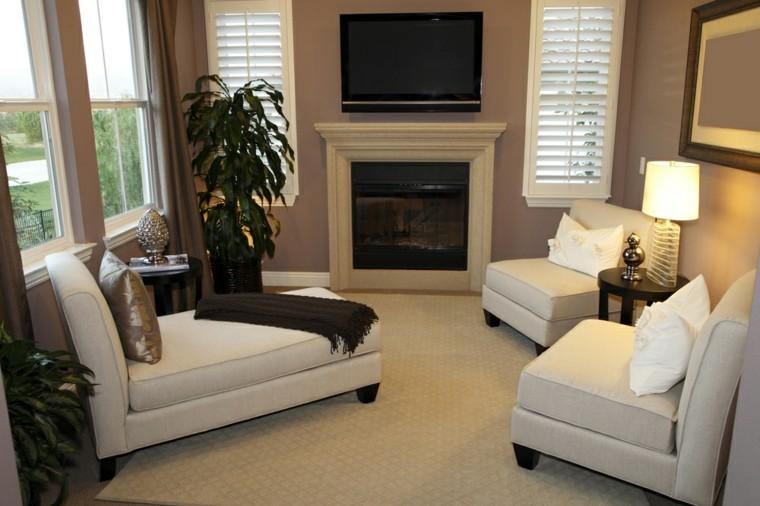 decorar salon pequeno muebles blancos ideas