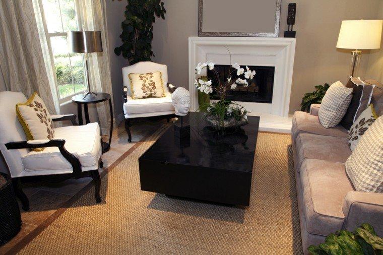 decorar salon pequeno sillones blancos ideas