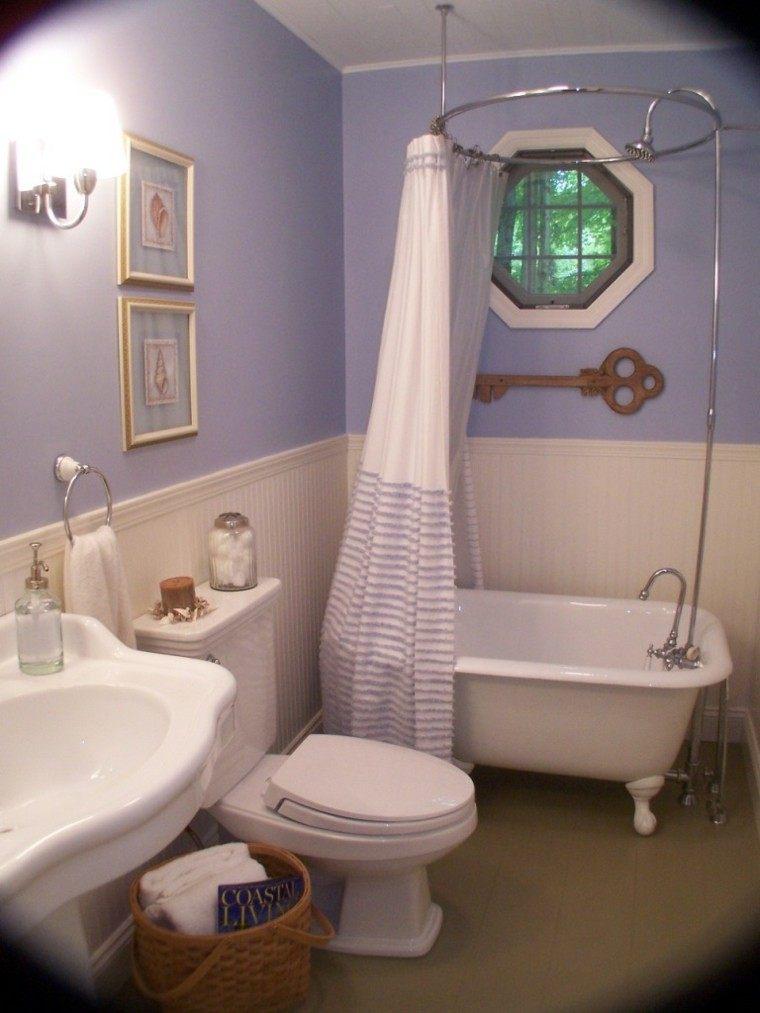 diseño baño color lavanda