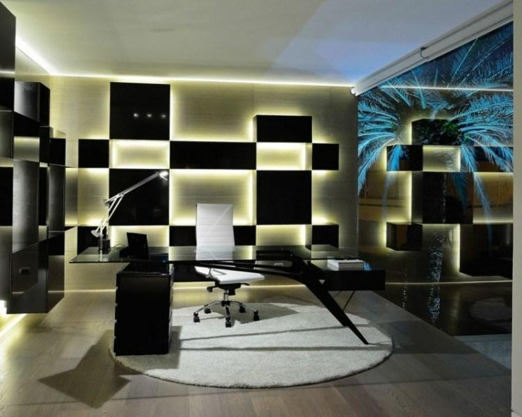 despacho moderno luces pared
