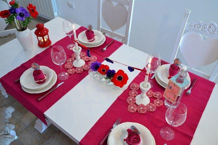 dia san valentin mesa decorada preciosa ideas