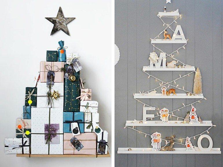 diseño abetos navidad caseros