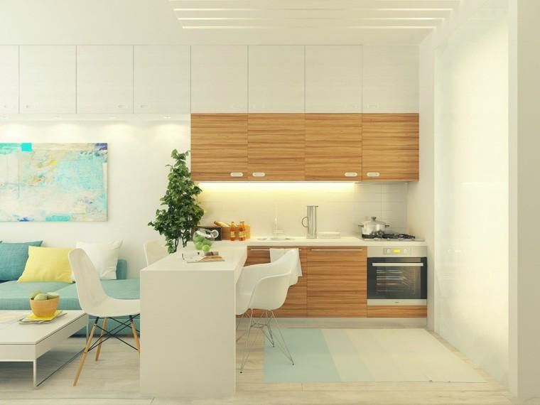 Cocina peque a con mucho estilo 38 ideas - Ideas para disenar una cocina ...