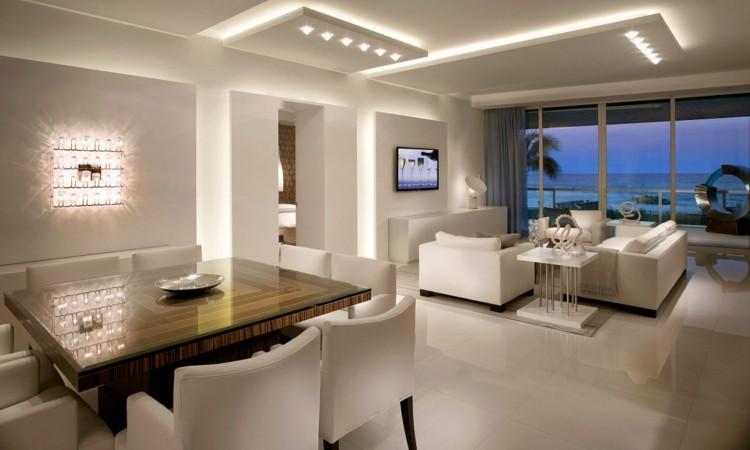 diseño salon blanco moderno