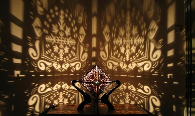 diseño original lampara sombras