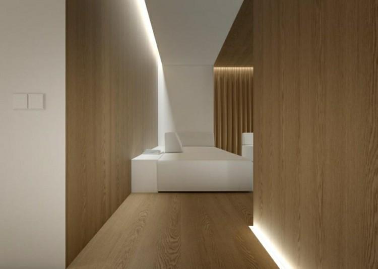 diseño estilo minimalista banco madera