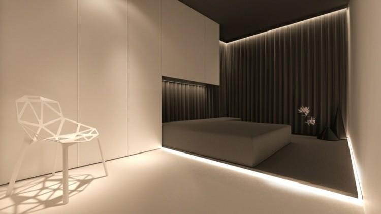 diseño moderno iluminacion dormitorio
