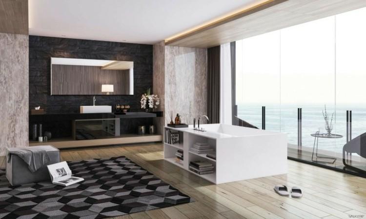 diseño baños modernos luces