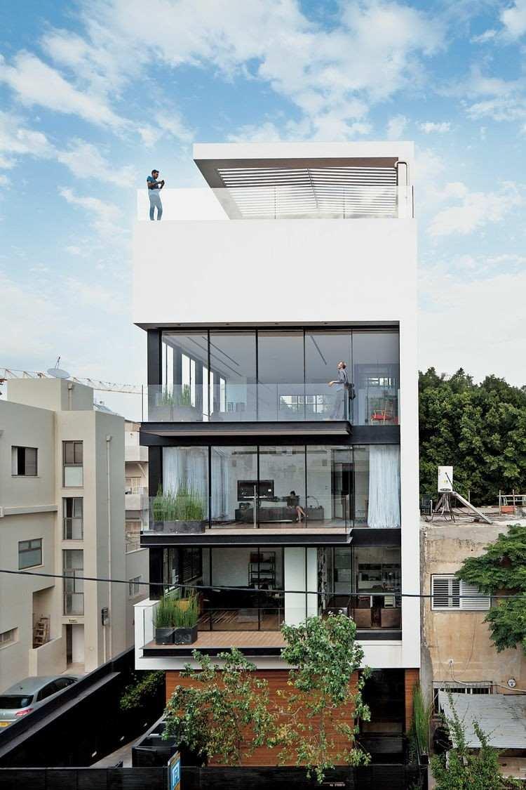 diseño bloque fachada ventanas