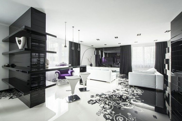 diseño casa decoracion negro grises
