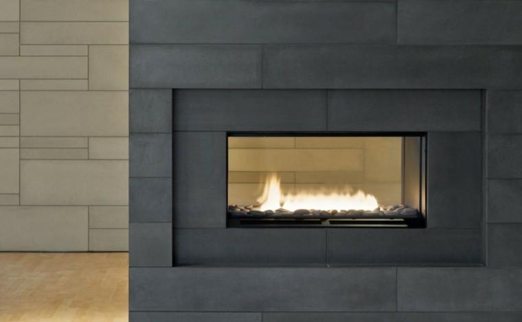 diseño chimenea etanol moderna