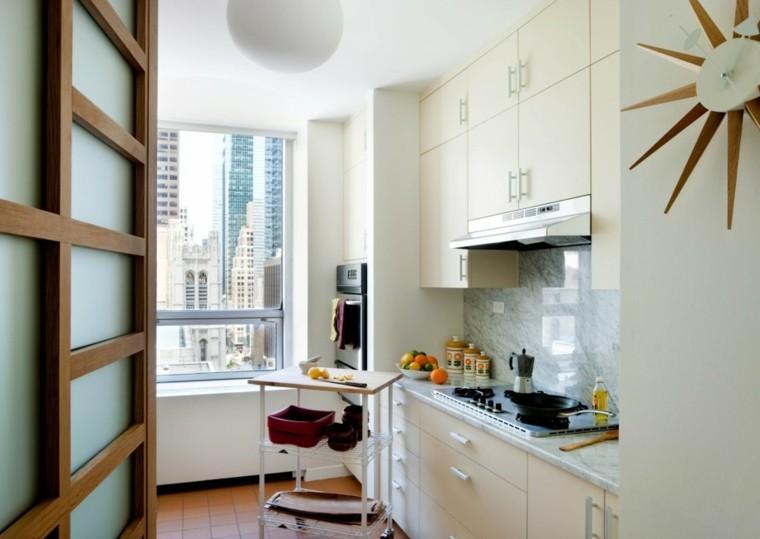 diseño cocina mpderna espacio pequeño