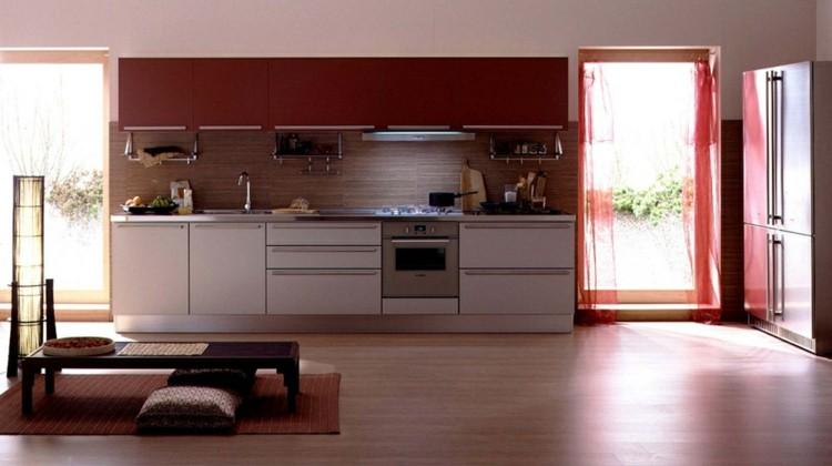 diseño cocinas soluciones rojo cojines blanco