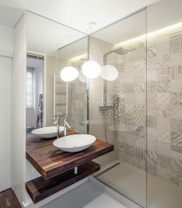 diseño cuarto baño moderno luces