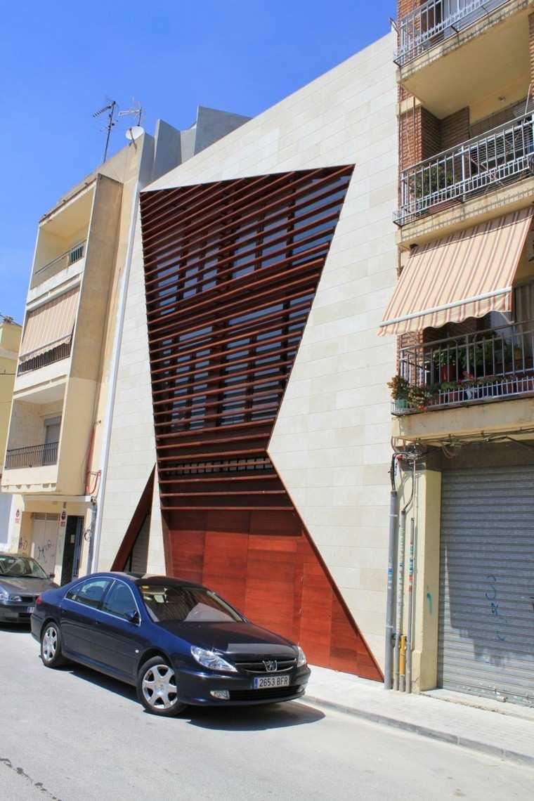 Fachadas modernas de estilo contempor neo Diseno de fachadas modernas