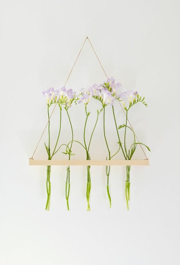 diseño florero colgante flores