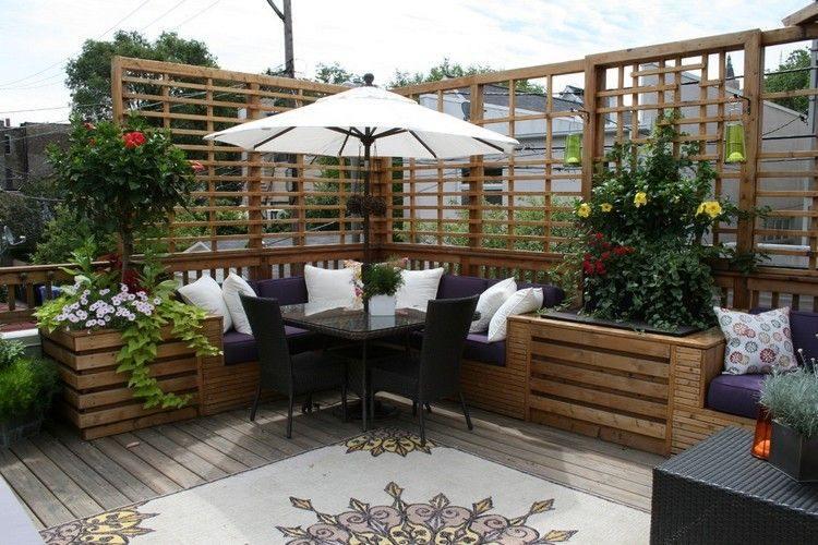diseño muebles terraza madera moderna