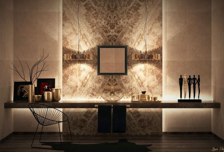diseo pared luces modernas deco