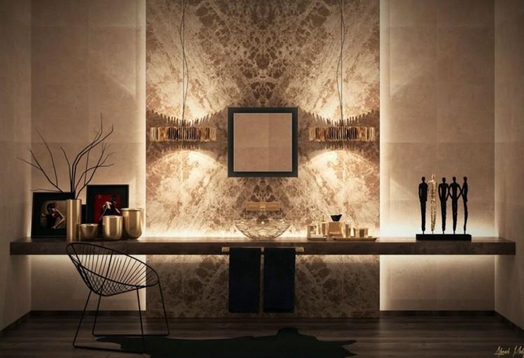 diseño pared luces modernas deco