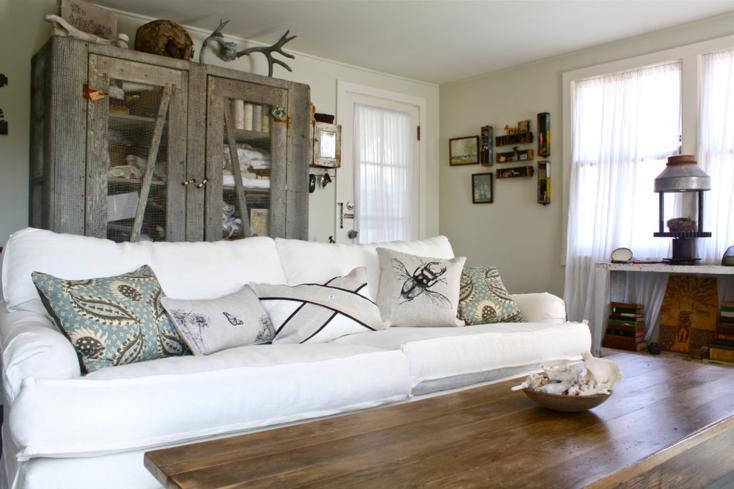 diseño sala de estar rustica