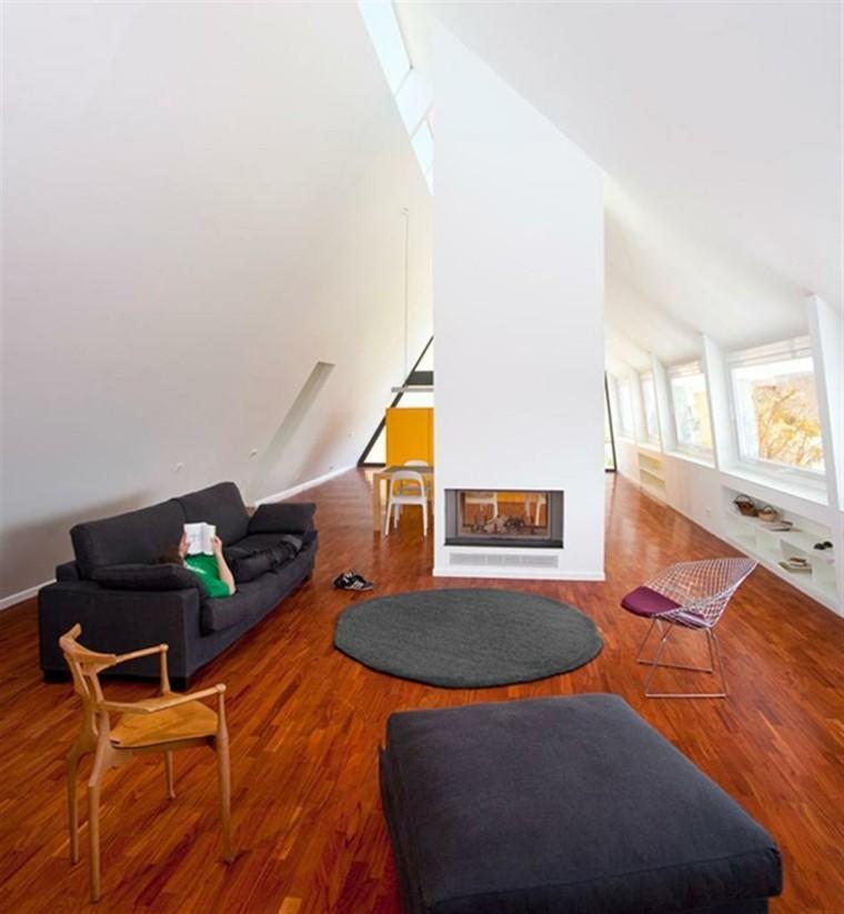 diseño sala estar suelo madera