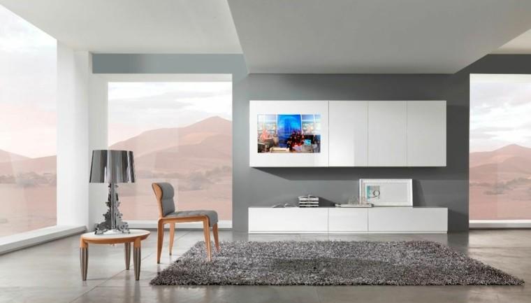 diseño salon gris moderno