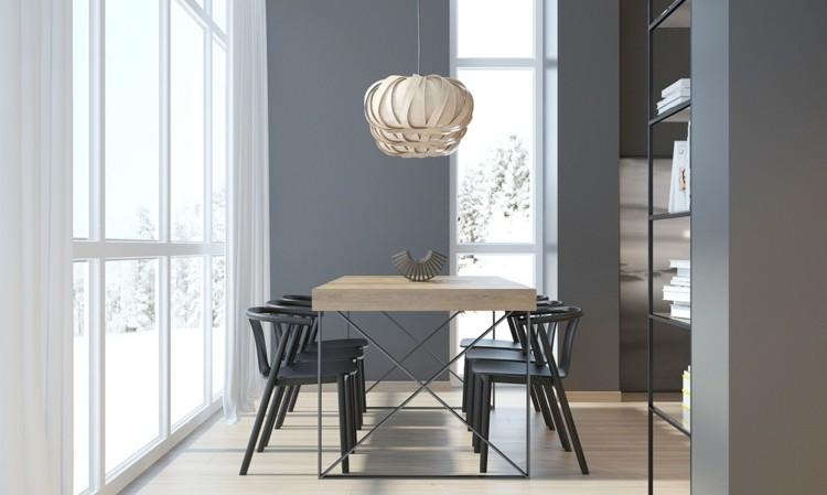 diseño sillas cortinas luces esfera