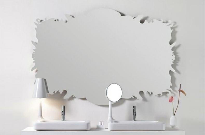 diseo de espejo de bao modelo organico