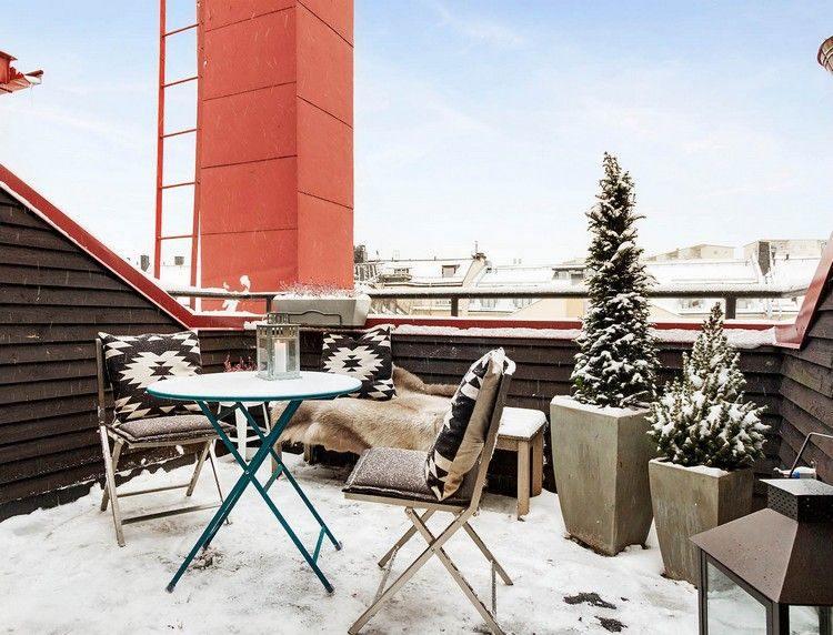 diseño terraza nevada moderna