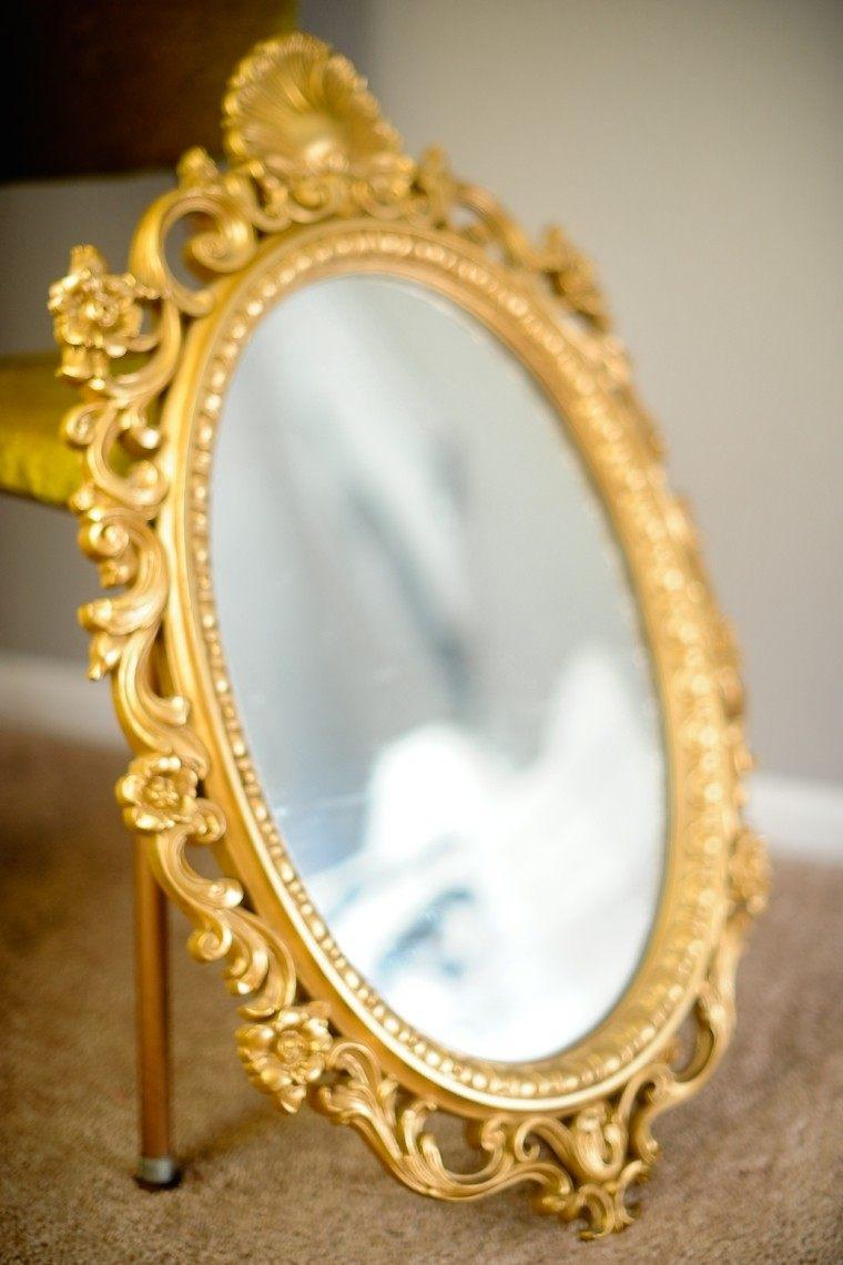 diseño espejo dorado estilo vintage