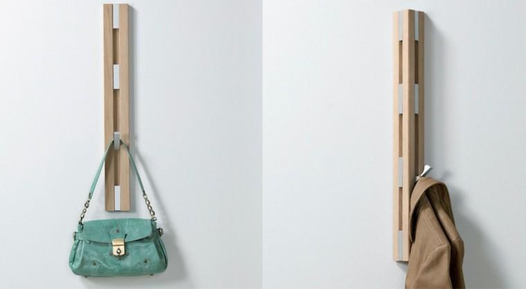 diseño perchero madera estilo moderno